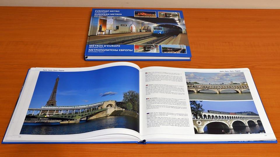 Разворот книги «Метрополитены Европы»,  глава «Метро Парижа».