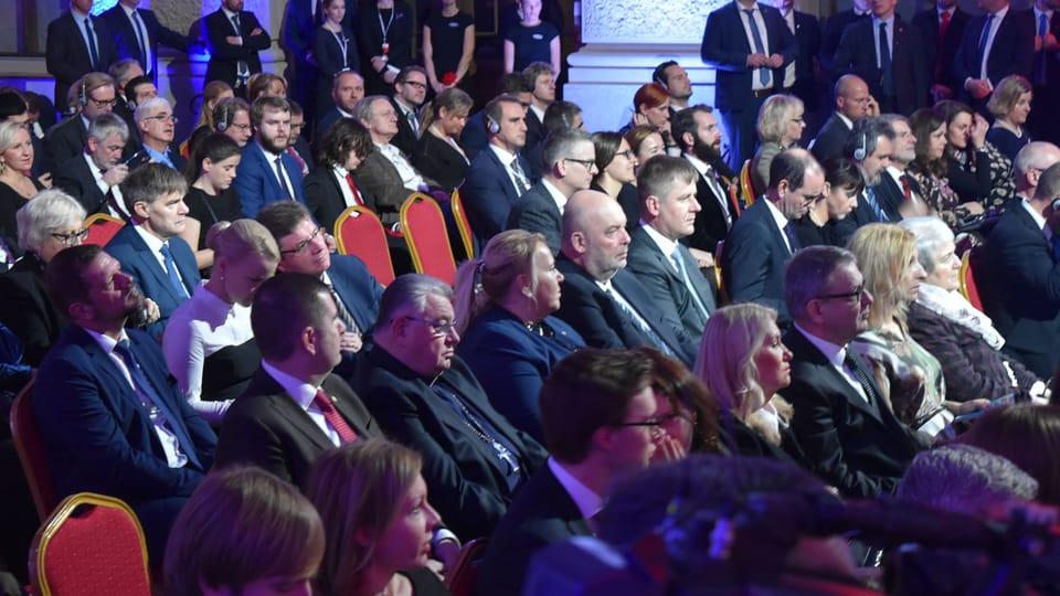 """Церемония в честь """"бархатной"""" революции в Национальном музее в Праге,  Фото: Ондржей Томшу"""