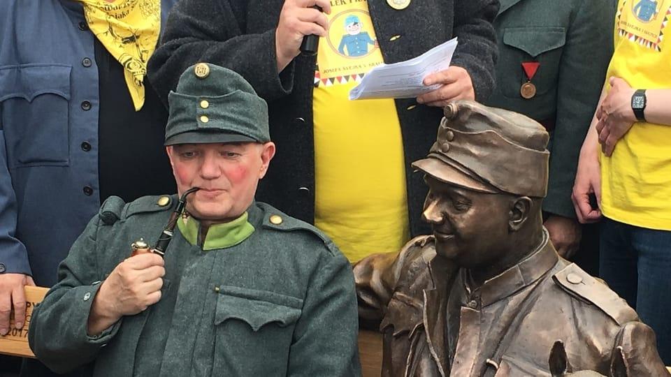 Открытие памятника Швейку в г. Кралупы-над-Влтавой,  Фото: Евгений Деменок