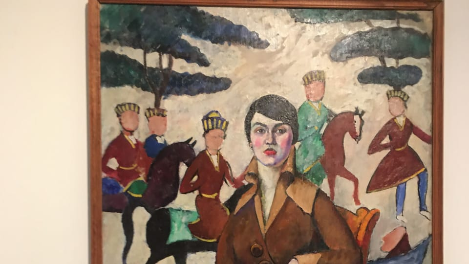 Илья Машков. Портрет дамы в кресле. 1915   Фото: Катерина Айзпурвит,  Radio Prague International