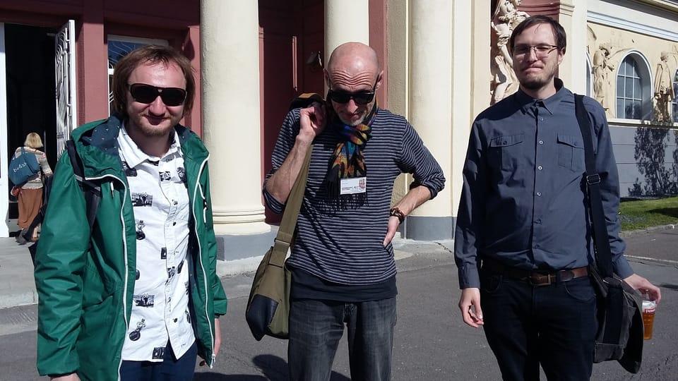 Поэт Григорий Семенчук  (слева),  Фото: Ольга Васинкевич,  Чешское радио - Радио Прага