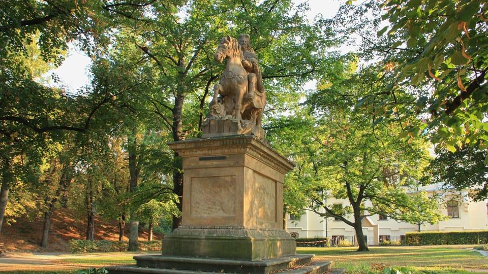 В данном случае речь идет о копии скульптуры,  созданной в 1678-1680 годах и до 1879 года находившейся на пражской Вацлавской площади,  фото: Барбора Немцова