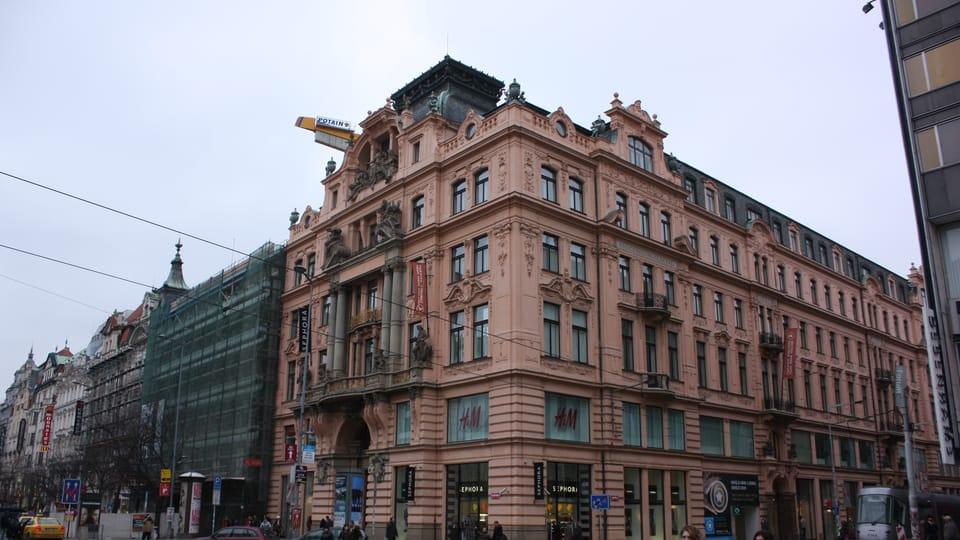 Здание Assicurazioni Generali в наши дни. Угол Вацлавской пл. и Индржишской ул.,  фото: Štěpánka Budková