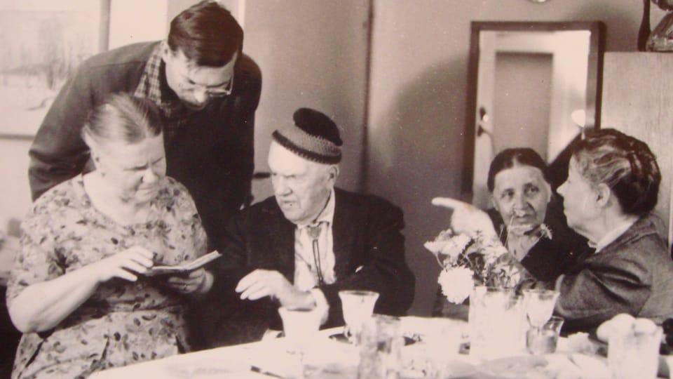 Марианна,  Владимир Фиала,  Давид,  Людмила и Маруся,  1962 г.