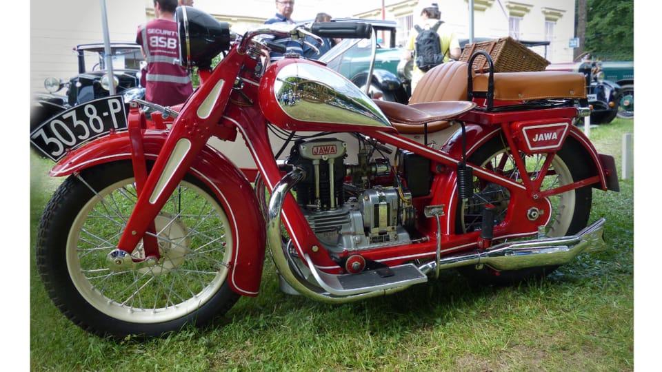 Мотоцикл Jawa 350 SV – довоенная модель мотоцикла одной из самых успешных чехословацких марок,  производился с 1934 года. Фото: Radio Prague International