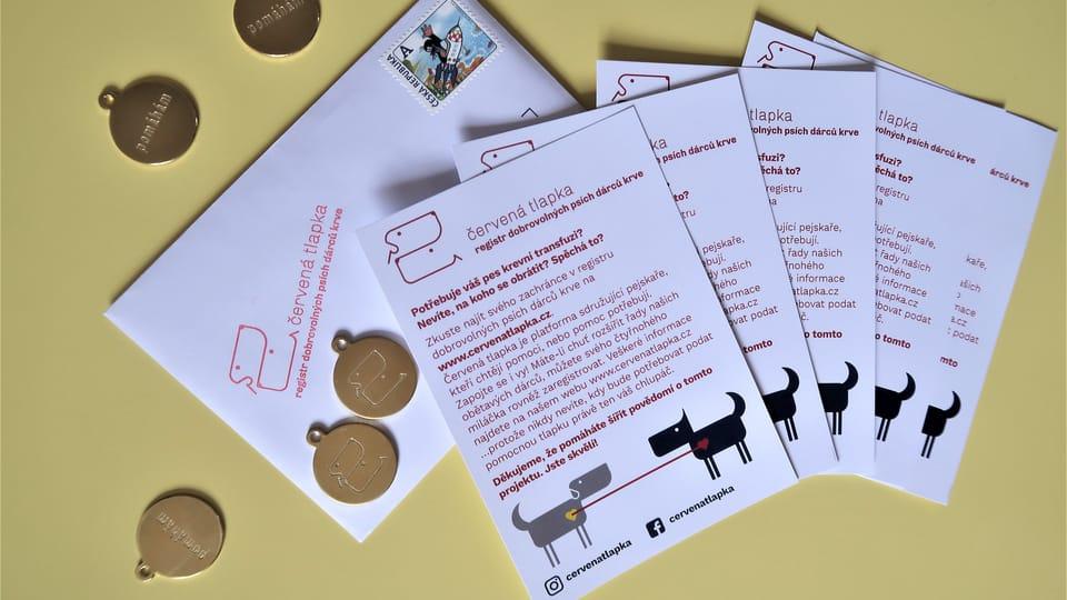 Листовки и значки собак-доноров,  Фото: Алицэ Била