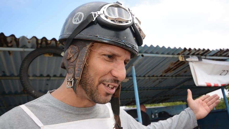 Дерек Вашингтон - гонщик из США,  Фото: Эва Туречкова,  Чешское радио - Радио Прага