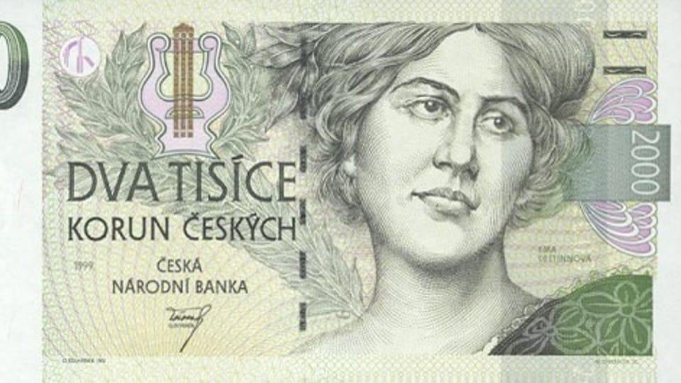 Эма Дестиннова на чешской банкноте,  фото: открытый источник