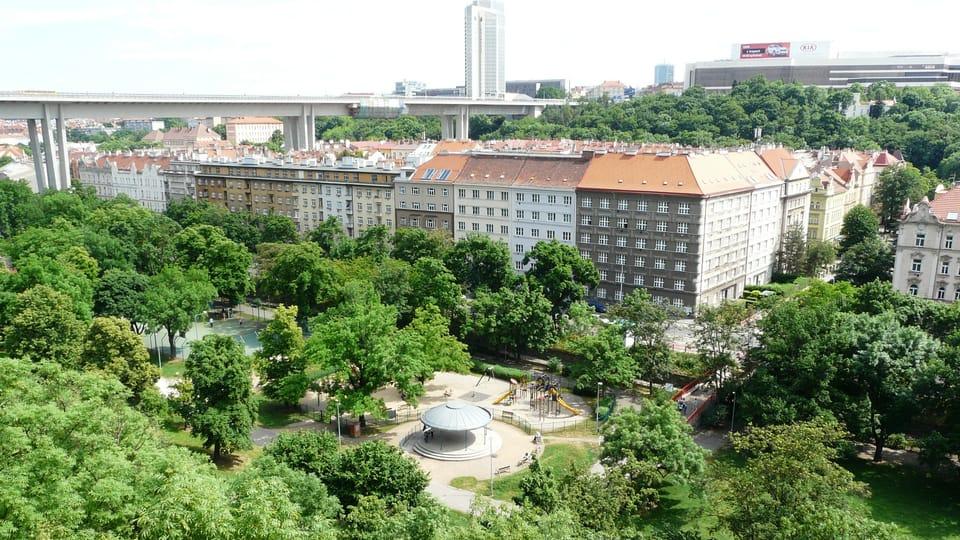 Вид на парк Фолиманка,  Фото: Екатерина Сташевская,  Чешское радио - Радио Прага