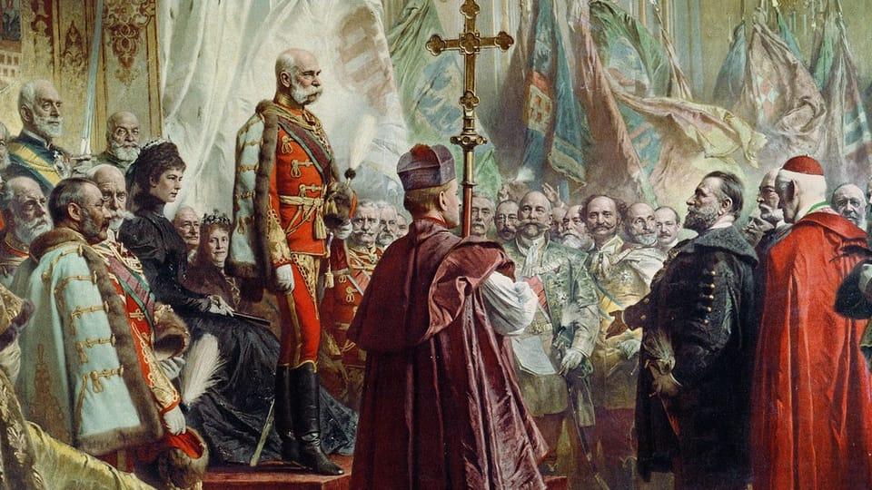 Император Франц Иосиф с супругой,  1896  (Július Bencúr,  открытый источник)