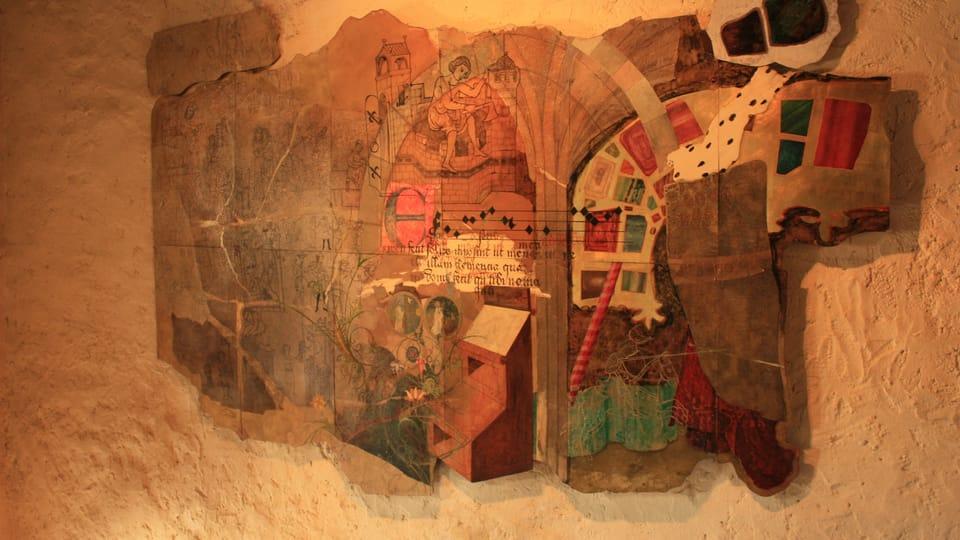 Фрагмент настенной росписи в Гуситском музее,  фото: Барбора Немцова