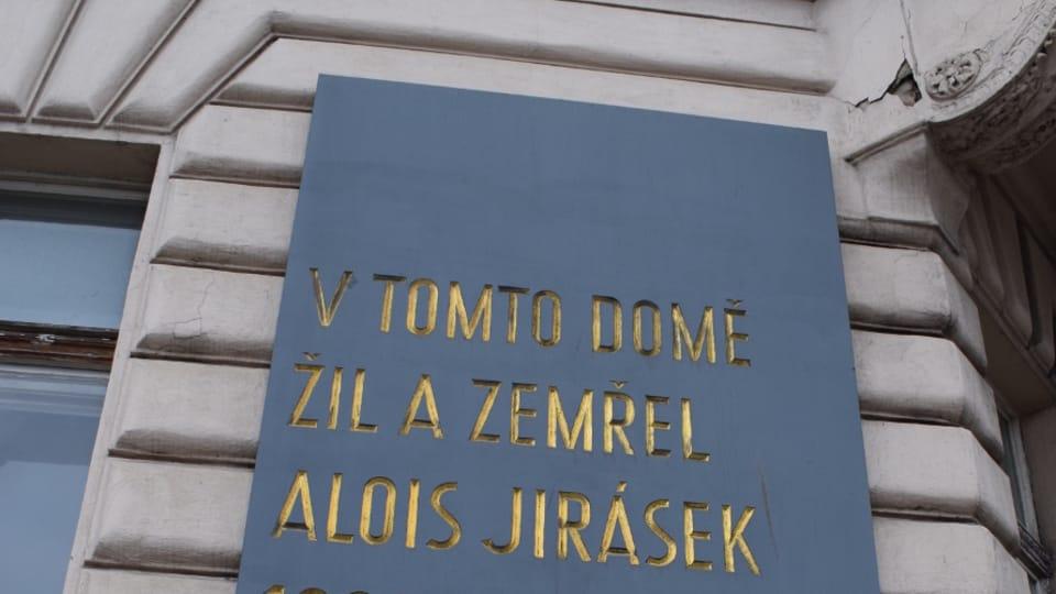 Мемориальная доска на доме Алоиса Ирасека,  фото: Екатерина Сташевская