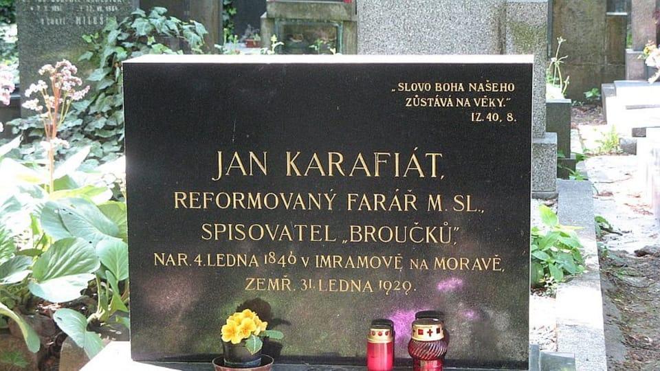 Могила писателя Яна Карафиата на Виноградском кладбище,  Фото: Jetepe,  CC BY-SA 3.0