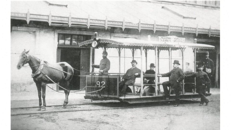 Конный трамвай,  Фото: Пражское транспортное управление