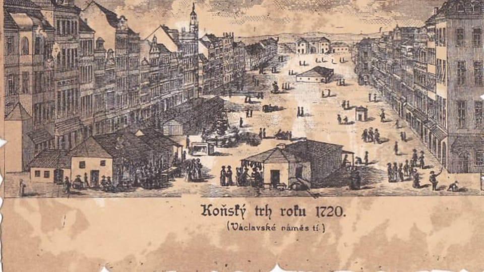 Вацлавская площадь в 1720 году