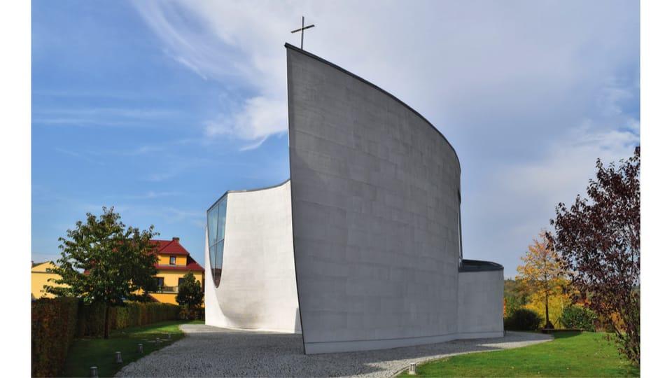Храм Евангелической церкви чешских братьев,  Черношице  (Černošice) 2010; Архитектор: Зденек Франек; Фото: Ондржей Томшу