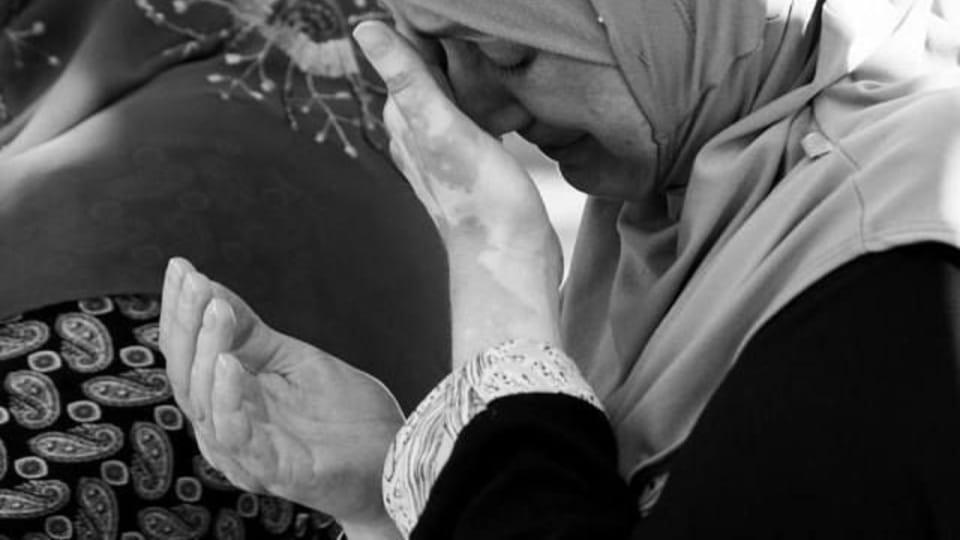 Наджие Алиева - жена одного из задержанных по делу «Хизб ут-Тахрир»,  Фото: Антон Наумлюк