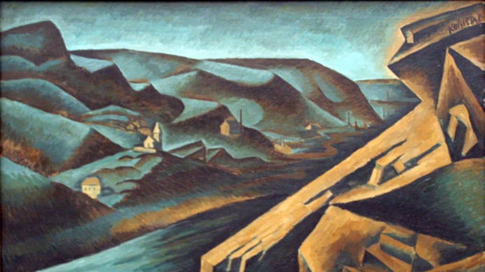«Вид на цементную фабрику в Бранике»,  1911 г.  (Фото: Wikimedia Commons,  Free Domain)