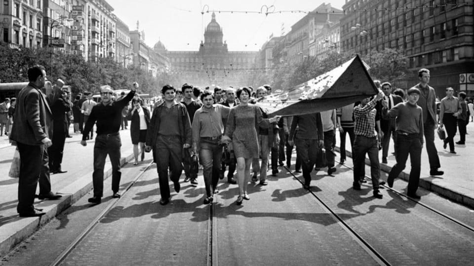 Фотография Либуше Кындровой,  фото: выставка Sovětská invaze - srpen 1968