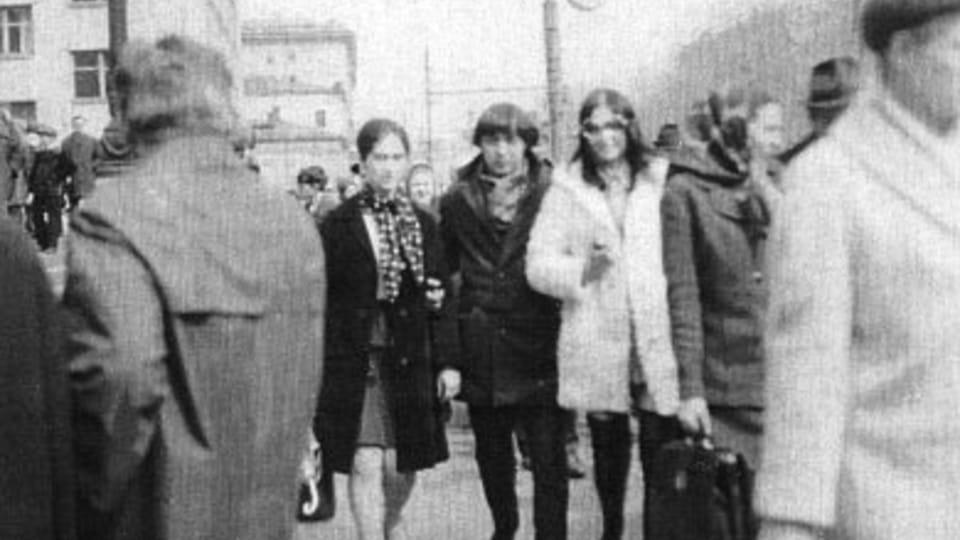 С Леонидом на прогулке по Москве
