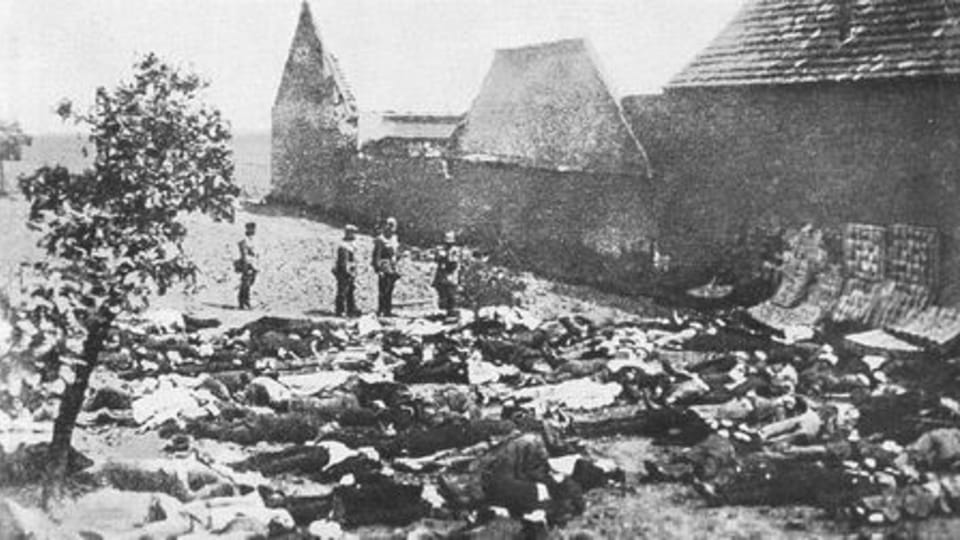Лидице,  11 июня 1942 г. - «Покушение на Гейдриха стоило множество человеческих жизней».