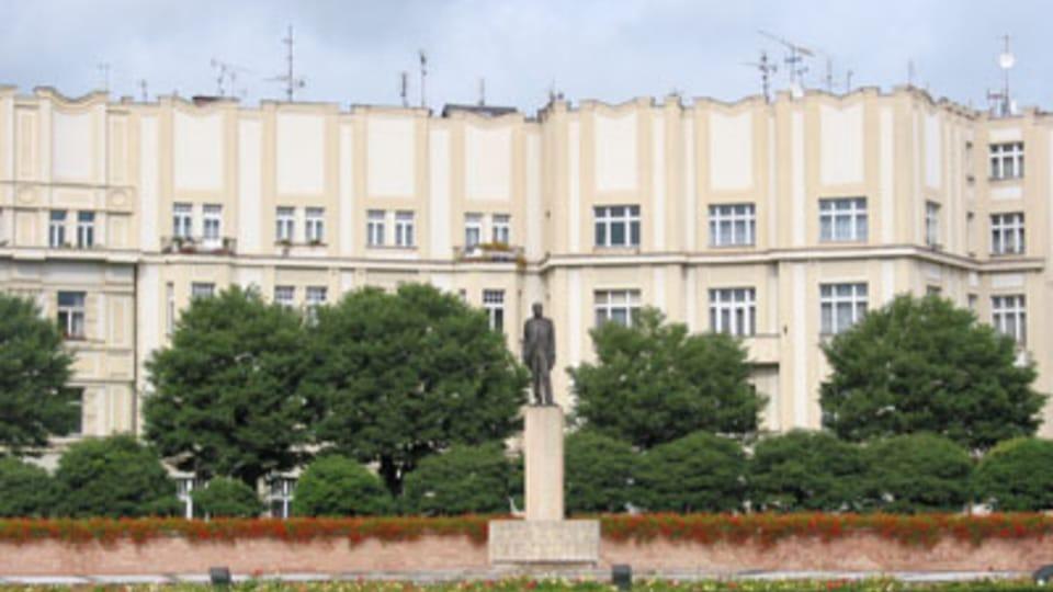 Скульптура Т.Г. Масарика на площади Масарика