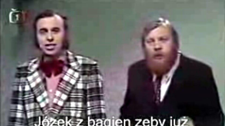 Иван Младек и Иво Пэшак на сайте YouTube с песней «Jožin z bažin»