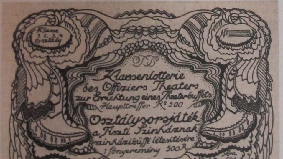 Фердинанд Михл: Лотерейный билет офицерского театра во Владивостоке  (Фото: Либерецкая галерея)