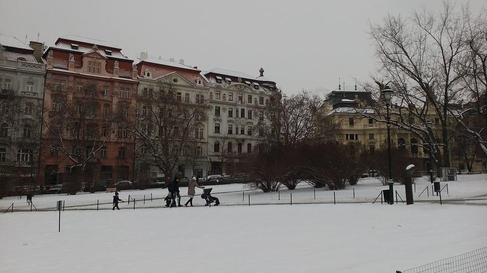 Площадь Мира в Праге зимой,  фото: Екатерина Сташевская