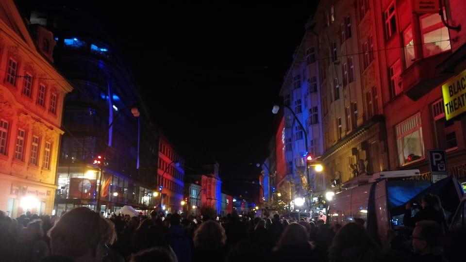 Световое шоу на Национальном проспекте,  фото: Штепанка Будкова