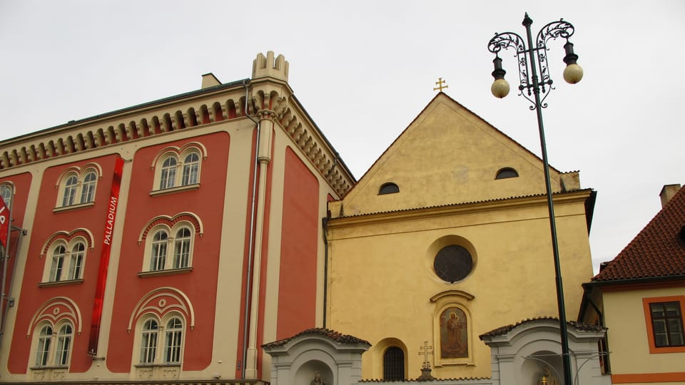 Центра «Палладиум» и костел Св. Йозефа  (Фото: Кристина Макова)