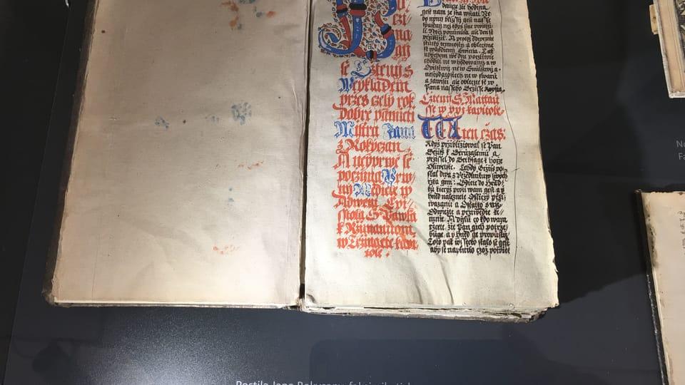 Документ епископа Яна из Рокицан. Музей города Подебрады,  фото: Катерина Айзпурвит