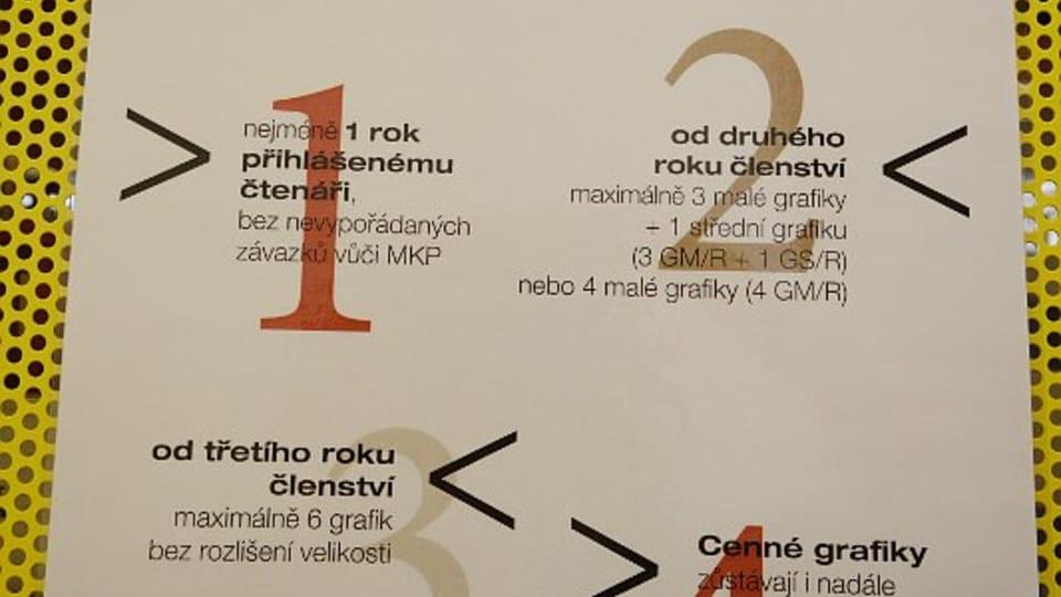 Правила пользования артотекой,  Фото: Эва Туречкова