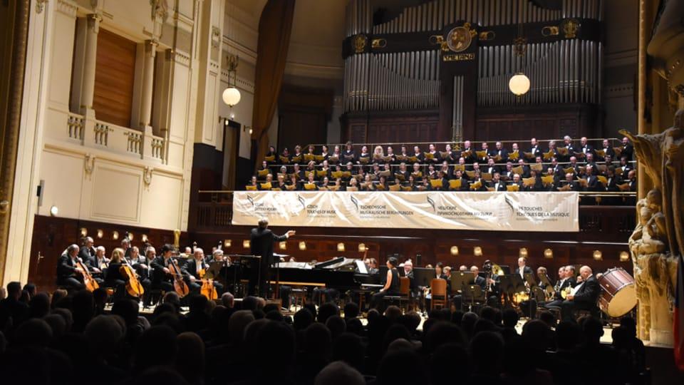 Большой симфонический оркестр П.И. Чайковского в Праге,  фото: Ян К. Челиш