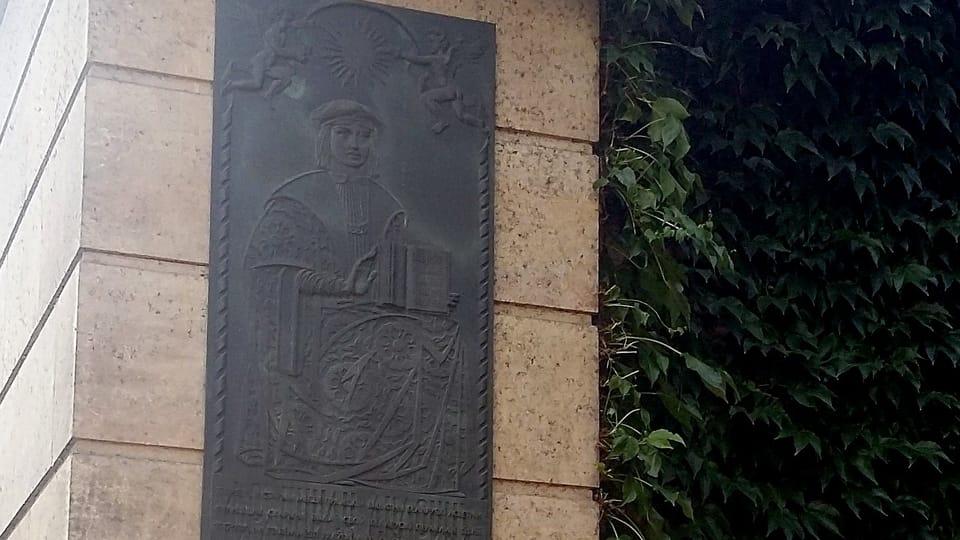 Мемориальная доска Франциску Скорине на территории комплекса Клементинума,  Фото: Ольга Васинкевич,  Чешское радио - Радио Прага