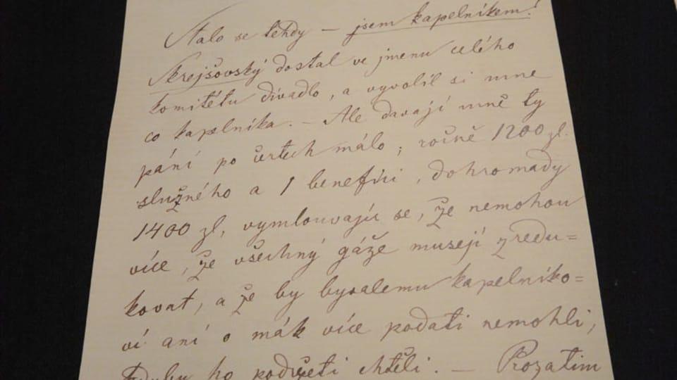 Письмо Бедржиха Сметаны своей жене Беттине,  фото: Эва Туречкова
