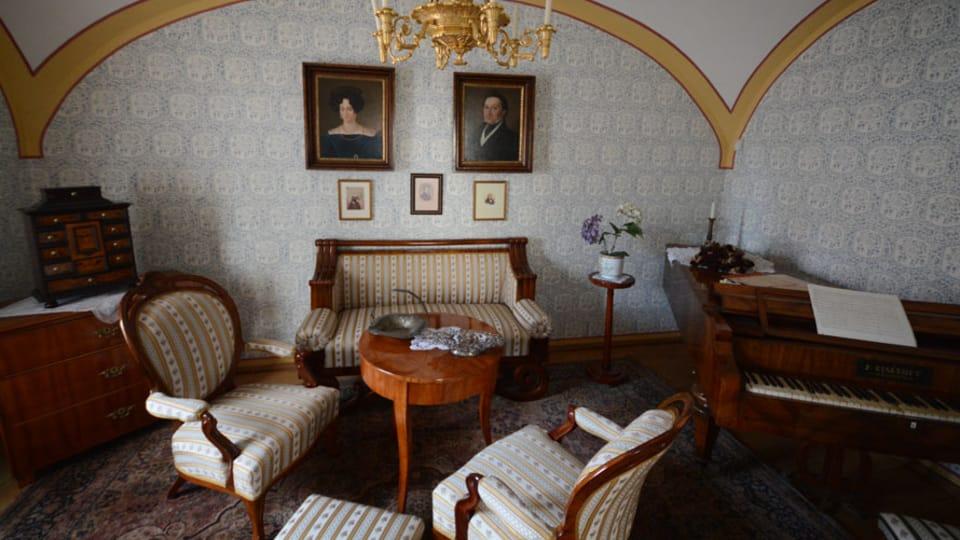 Интерьер музея Бедржиха Сметаны,  фото: Эва Туречкова