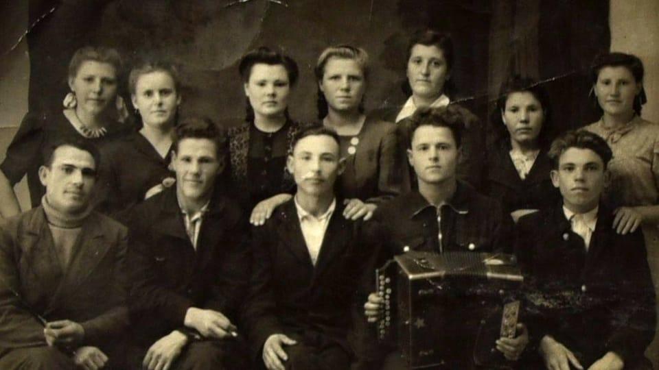 Češi z vesnice Stěpanovka v Povolží na dobové fotografii,  repro foto: Tomáš Vlach,  Český rozhlas