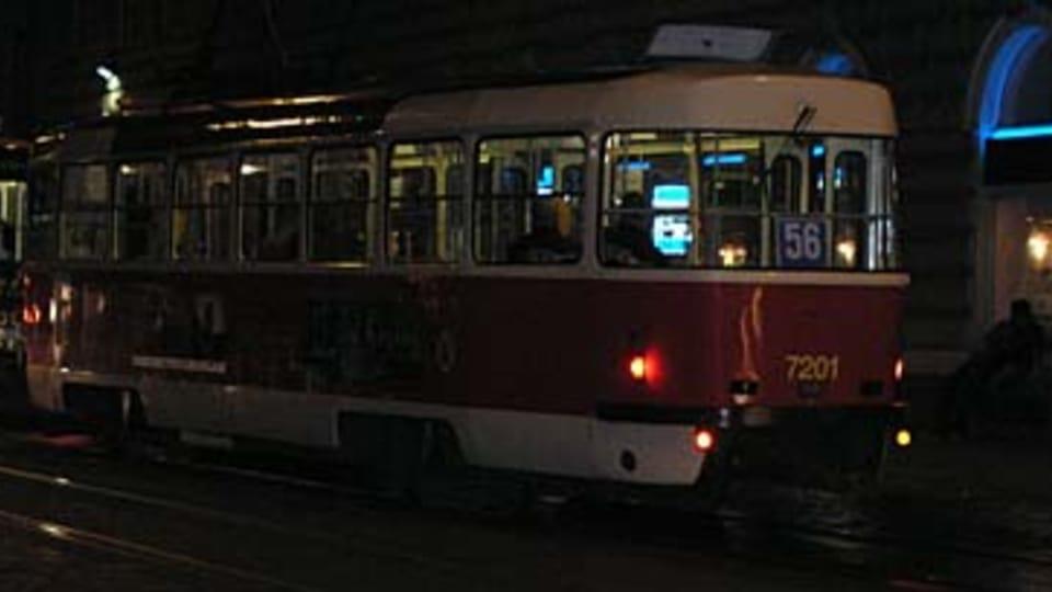 Трамвайная остановка Лазарска  (Фото: Кристына Макова)