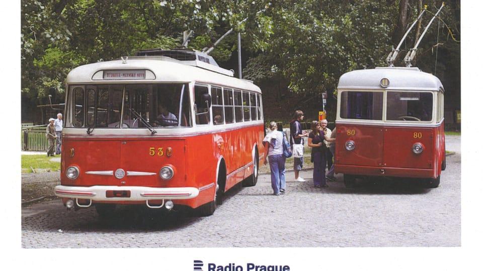 Троллейбус Škoda Tr,  1960-е гг.,  Фото: Мариан Пелгер,  ЧТК
