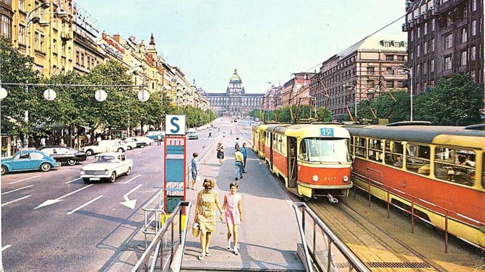Вацлавская площадь в 1969 году