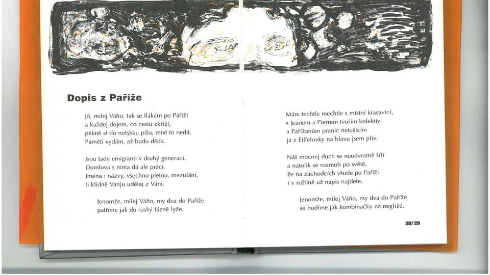 Cборник Высоцкого «Я не пью один»,  стихотворение «Письмо из Парижа»,  перевод Милана Дворжака,  издательство Dokořán в 2006 году